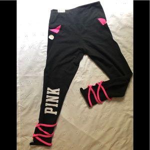 Victoria's Secret leggings pink criss cross